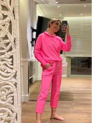 Jogger παντελόνι φόρμας σε color block φούξια fluo